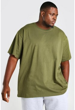 Khaki Big And Tall Loose Fit T-Shirt