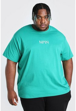 Big And Tall t-shirt taglio rilassato MAN Dash, Verde gerde
