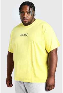 Big And Tall t-shirt taglio rilassato MAN Dash, Giallo