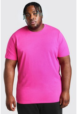 T-shirt basic lunga Big and Tall, Rosa