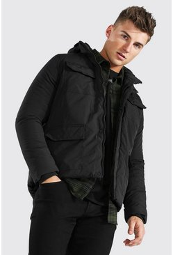 Black 4 Pocket Parka