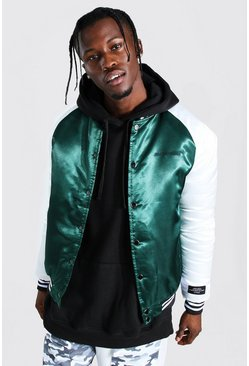 Green MAN Official Satin Bomber