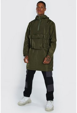 Khaki 3 Front Pocket Lightweight Parka
