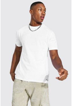 White 3 Pack MAN Script T-Shirt