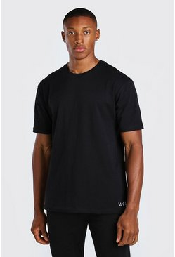 Black 3 Pack Small MAN Dash T-Shirt