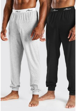 Multi 2 Pack MAN Script Loungewear Pants
