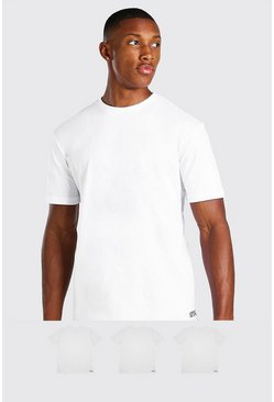 Wit white 3-pack MAN dash T-shirt