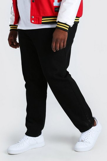 Black Plus Size Slim Fit Rigid Jean