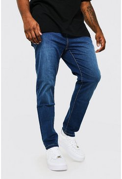 Big & Tall Skinny-Fit-Jeans, Mittelblau blau