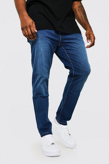 Mid blue blue Plus Size Skinny Fit Jean