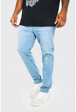 Light blue blue Plus Size Skinny Fit Jean