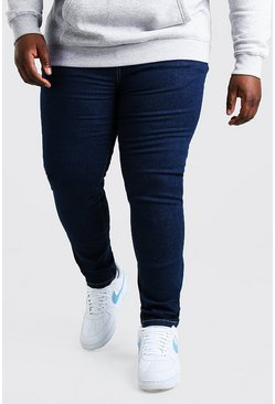 Dark blue blue Plus Size Skinny Jeans