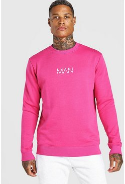 Pink Original MAN Crew Neck Sweatshirt