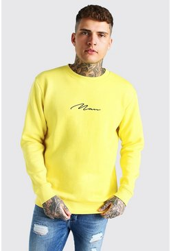 Yellow Man Signature Embroidered Sweatshirt