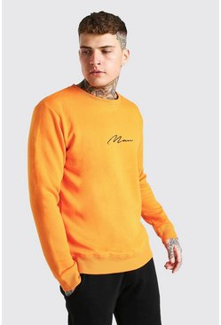 Orange Man Signature Embroidered Sweatshirt
