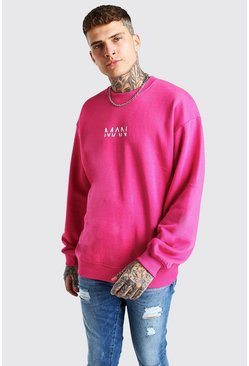 Sweatshirt coupe oversize MAN original, Rose