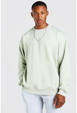 Sage grön Oversized Original MAN Sweatshirt