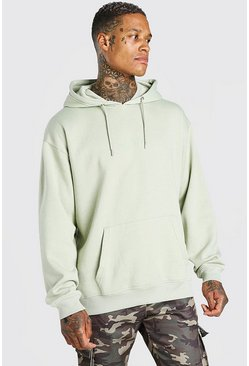 Sage green Oversized Original MAN Over The Head Hoodie