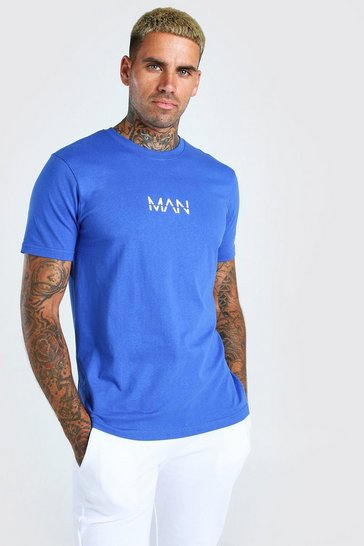 Cobalt blue Original MAN Crew Neck T-shirt