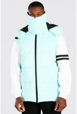 Mint green MAN Dash Snood Gilet