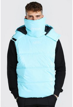 Blue blå MAN Official Snood Gilet
