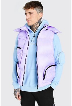 Lilac purple Multi Pocket Gilet