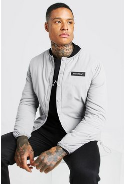 Grey MAN Official Collarless Coach Jacket