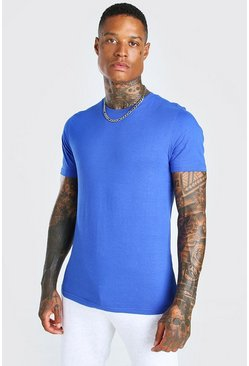 Cobalt blue Basic Crew Neck T-Shirt