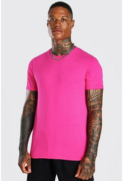 Pink Basic Crew Neck T-Shirt