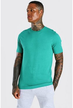 Green Basic Crew Neck T-Shirt