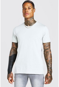 Silver Basic Crew Neck T-Shirt