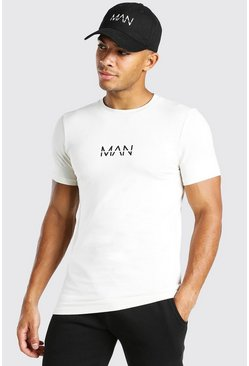 Ecru white Muscle Fit Original MAN T-Shirt