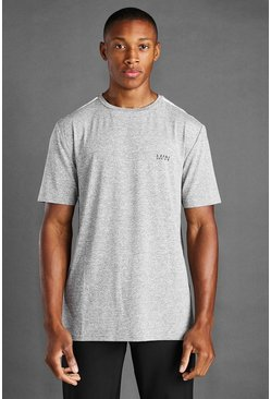 Grey marl grey MAN Active Marl T-Shirt