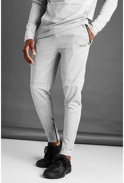 Grey marl grey MAN Active Skinny Fit Marl Joggers
