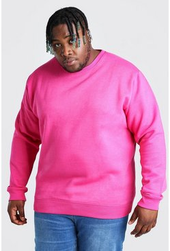 Pink Plus Size Basic Sweater