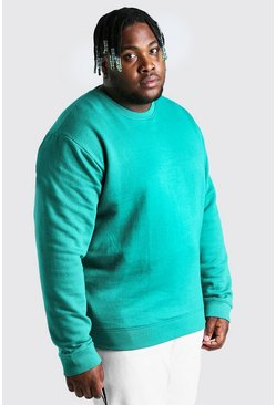 Green Plus Size Basic Sweater