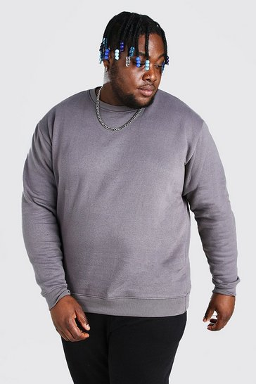Slate grey Plus Size Basic Sweater