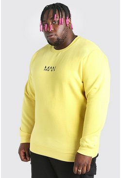 Yellow Big And Tall MAN Dash Sweater
