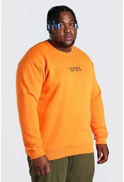 Felpa con nastro Big And Tall MAN, Arancio