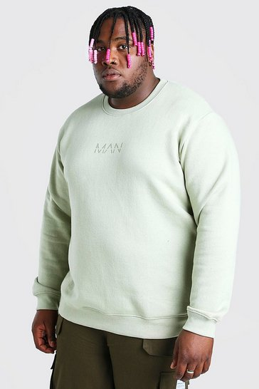 Sage green Plus Size MAN Dash Sweater