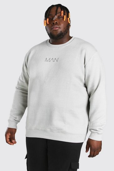 Silver Plus Size MAN Dash Sweater