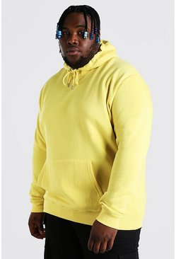 Yellow Plus Size Basic Hoodie