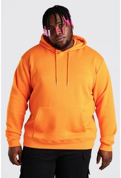 Orange Plus Size Basic Hoodie