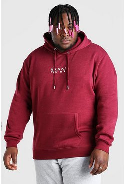 Burgundy red Plus Size MAN Dash Hoodie