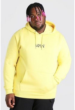 Felpa Big And Tall con cappuccio MAN Dash, Giallo