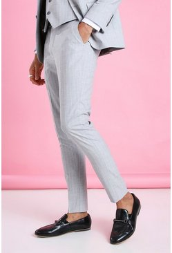 Light grey grå Super Skinny Stripe Suit Trouser