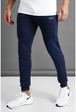 Navy MAN Active Skinny Fit Double Waistband Jogger