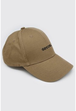 Sage silver grey MAN Embroidered Curve Peak Cap