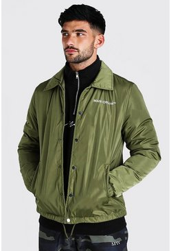 Khaki MAN Official Nylon Coach Jacket