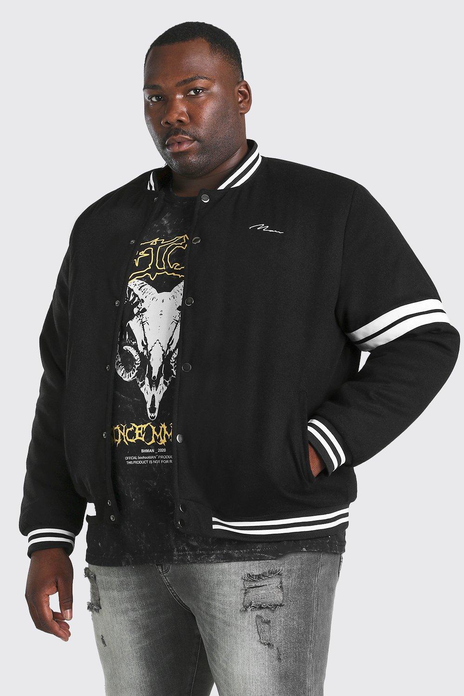 Big & Tall Sale Plus Size MAN Wool Look Bomber Jacket